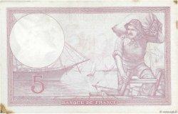 5 Francs VIOLET modifié FRANCE  1939 F.04.02 pr.TTB