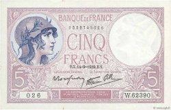 5 Francs VIOLET modifié FRANCE  1939 F.04.08 TTB+