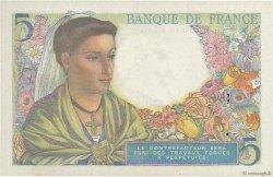 5 Francs BERGER FRANCE  1943 F.05.02 TTB+