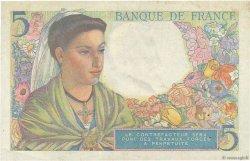 5 Francs BERGER FRANCE  1943 F.05.02 TTB
