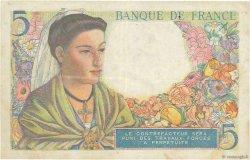 5 Francs BERGER FRANCE  1943 F.05.04 TB+