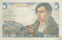 5 Francs BERGER FRANCE  1943 F.05.04 TTB+