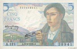 5 Francs BERGER FRANCE  1945 F.05.06 SUP+
