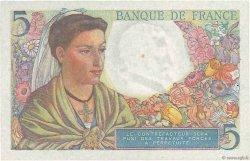 5 Francs BERGER FRANCE  1945 F.05.06 pr.SPL