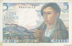 5 Francs BERGER FRANCE  1947 F.05.07 pr.TTB