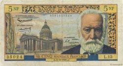 5 Nouveaux Francs VICTOR HUGO FRANCE  1959 F.56.03 pr.TB