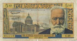 5 Nouveaux Francs VICTOR HUGO FRANCE  1961 F.56.06 pr.B