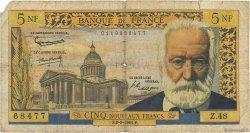 5 Nouveaux Francs VICTOR HUGO FRANCE  1961 F.56.06 AB