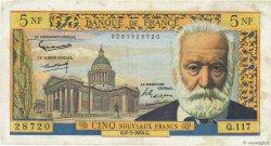 5 Nouveaux Francs VICTOR HUGO FRANCE  1964 F.56.15 pr.TTB