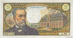 5 Francs PASTEUR FRANCE  1968 F.61.08 TTB