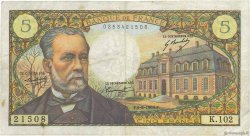 5 Francs PASTEUR FRANCE  1969 F.61.10 TB