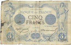 5 Francs NOIR FRANCE  1872 F.01.12 AB