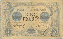 5 Francs NOIR FRANCE  1873 F.01.14 B+