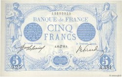 5 Francs BLEU FRANCE  1912 F.02.06 SUP