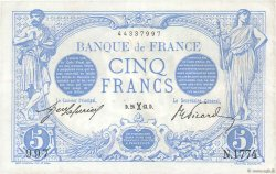 5 Francs BLEU FRANCE  1913 F.02.14 TTB