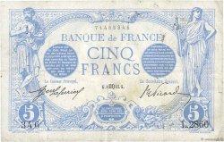 5 Francs BLEU FRANCE  1913 F.02.20 TB