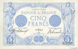 5 Francs BLEU FRANCE  1915 F.02.28 SUP