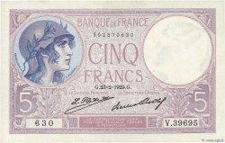 5 Francs VIOLET FRANCE  1929 F.03.13 SUP+
