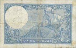 10 Francs MINERVE FRANCE  1917 F.06.02 B+