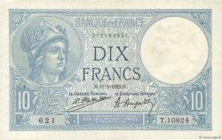 10 Francs MINERVE FRANCE  1923 F.06.07 TTB+