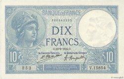 10 Francs MINERVE FRANCE  1924 F.06.08 SUP