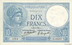 10 Francs MINERVE FRANCE  1925 F.06.09 SPL