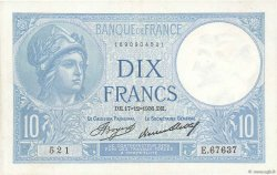 10 Francs MINERVE FRANCE  1936 F.06.17 pr.SPL