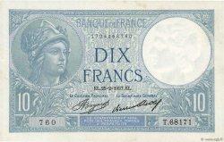 10 Francs MINERVE FRANCE  1937 F.06.18 SUP