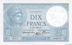 10 Francs MINERVE modifié FRANCE  1941 F.07.28 SPL