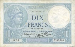 10 Francs MINERVE modifié FRANCE  1942 F.07.31 TTB