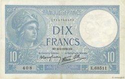 10 Francs MINERVE modifié FRANCE  1939 F.07.01 TTB