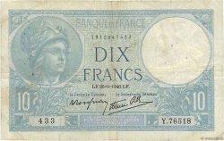 10 Francs MINERVE modifié FRANCE  1940 F.07.15 TB