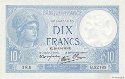10 Francs MINERVE modifié FRANCE  1940 F.07.25 SUP+