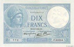 10 Francs MINERVE modifié FRANCE  1941 F.07.27 SUP
