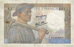 10 Francs MINEUR FRANCE  1941 F.08.02 TB