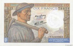 10 Francs MINEUR FRANCE  1942 F.08.04 SPL