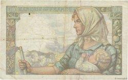 10 Francs MINEUR FRANCE  1942 F.08.06 TB+