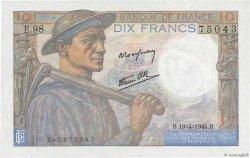 10 Francs MINEUR FRANCE  1945 F.08.13 NEUF