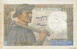 10 Francs MINEUR FRANCE  1947 F.08.18 pr.TTB