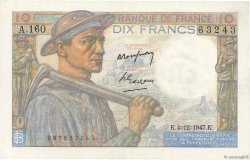 10 Francs MINEUR FRANCE  1947 F.08.19 pr.SUP