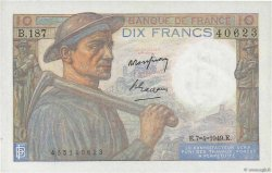 10 Francs MINEUR FRANCE  1949 F.08.21 SUP+