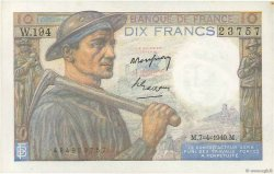 10 Francs MINEUR FRANCE  1949 F.08.21 TTB+