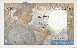 10 Francs MINEUR FRANCE  1949 F.08.22 pr.SUP