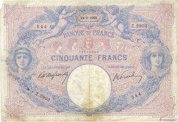 50 Francs BLEU ET ROSE FRANCE  1906 F.14.18 B