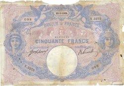 50 Francs BLEU ET ROSE FRANCE  1908 F.14.21 AB
