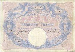 50 Francs BLEU ET ROSE FRANCE  1909 F.14.22 pr.TTB
