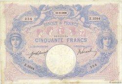 50 Francs BLEU ET ROSE FRANCE  1909 F.14.22 TB