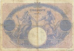 50 Francs BLEU ET ROSE FRANCE  1910 F.14.23 B