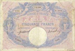 50 Francs BLEU ET ROSE FRANCE  1910 F.14.23 B