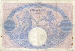 50 Francs BLEU ET ROSE FRANCE  1911 F.14.24 TB